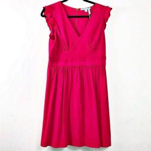 Draper James Flutter Sleeve Party Dress Pink 10